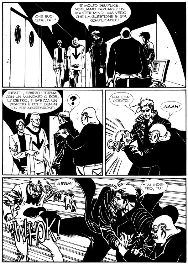 Tavola per Nathan Never n. 176, 2006, testo Stefano Vietti