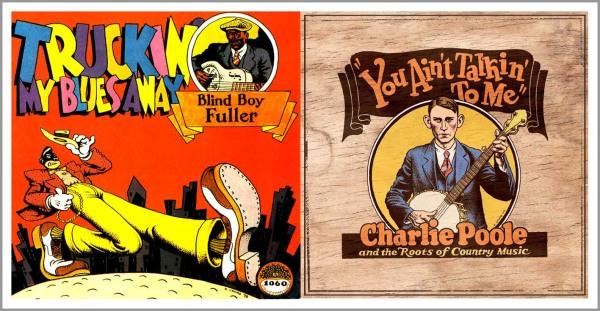 Due delle tante copertine di dischi country firmate da Crumb