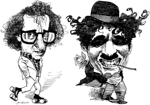 Woody Allen e Charles Chaplin nei panni di Charlot