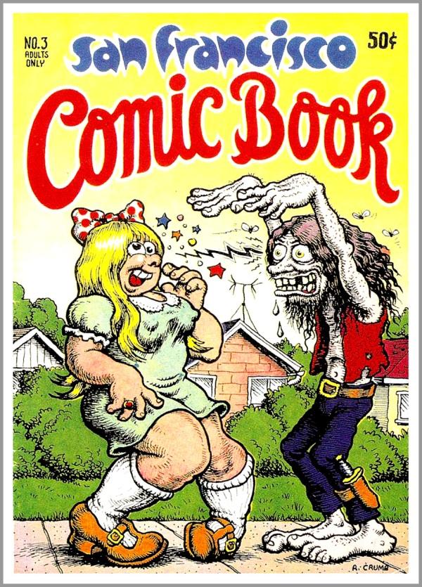 Copertina di uno dei primi comix books underground