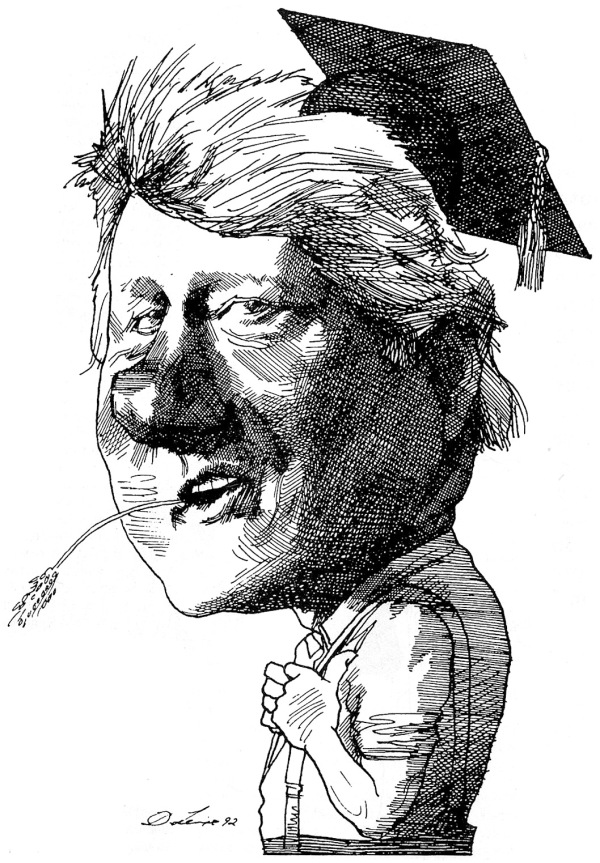 l'ex presidente Bill Clinton, caricatura del 1992
