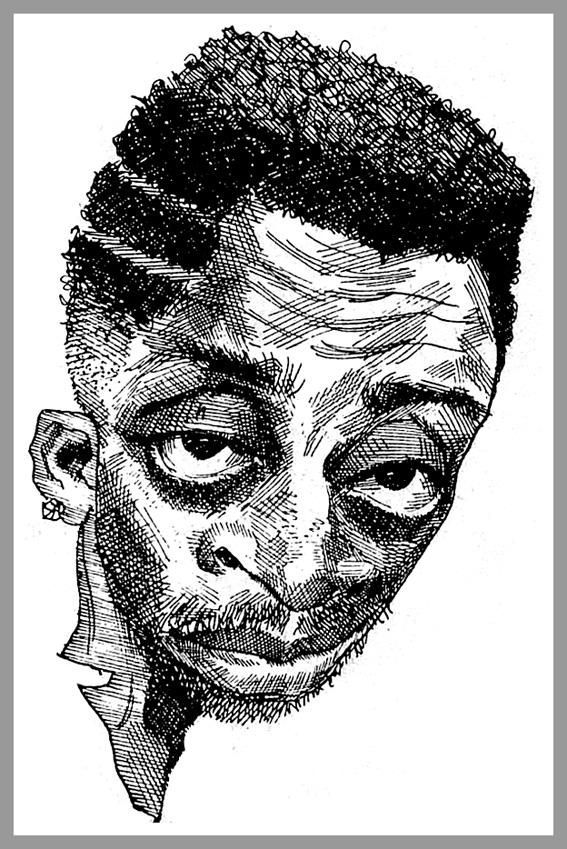 Il regista Spike Lee, caricatura del 1989