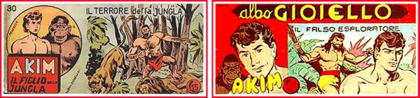 Due copertina delle tante serie nel classico formato striscia