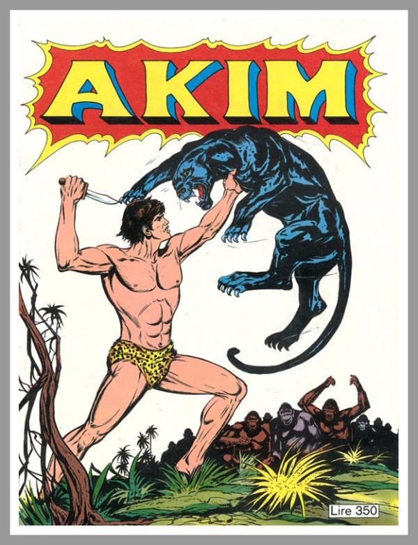 Il primo albo di Akim nella versione di Bonelli, 84 numeri dal 1976 al 1983