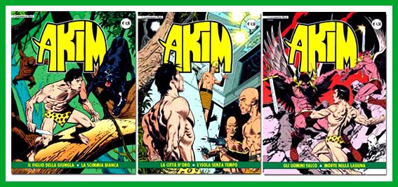 Akim nella versione delle edizioni If, 7 numeri con copertine di Mastantuono