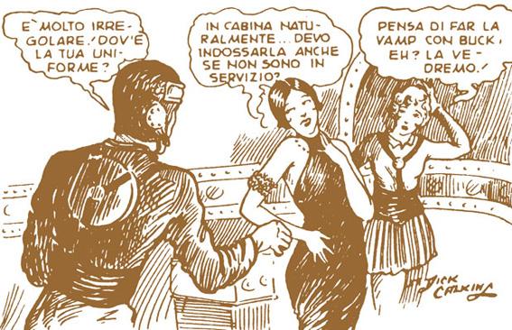 Buck Rogers (1929) in una vignetta con Wilma e Ardala