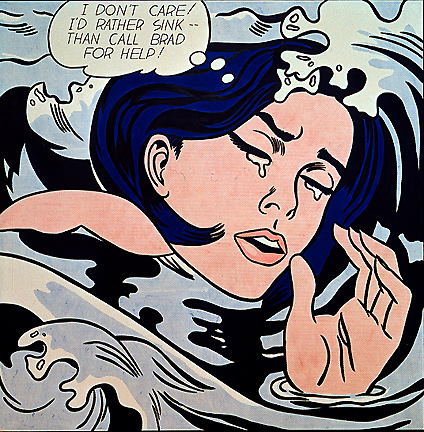 Roy Lichtenstein - Drowning Girl